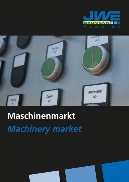 Maschinenmarkt Machinery market - JWE-Baumann GmbH