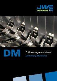 Enthaarungsmaschinen Dehairing Machines - JWE-Baumann GmbH