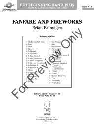 FANFARE AND FIREWORKS - JW Pepper