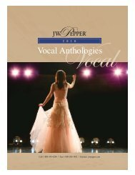 Vocal Anthologies Catalog 2009:Choral Spring Cat. 2005 - JW Pepper