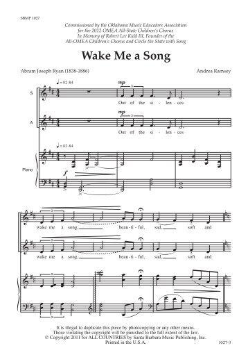 Wake Me a Song - JW Pepper