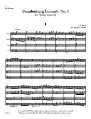 Brandenburg Concerto No. 4 I - JW Pepper