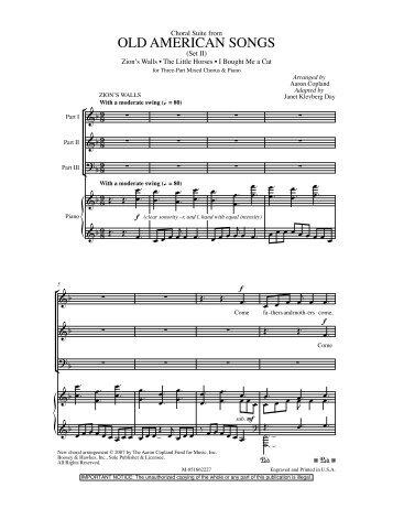 OLD AMERICAN SONGS - JW Pepper