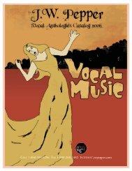 Vocal Anthologies Catalog 2006\NEW - JW Pepper