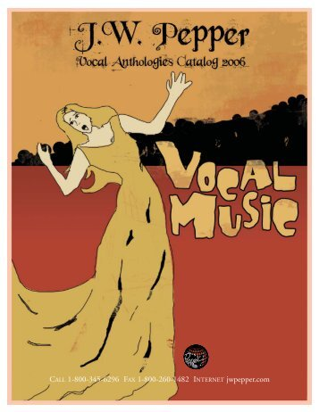 Vocal Anthologies Catalog 2006\NEW - JW Pepper