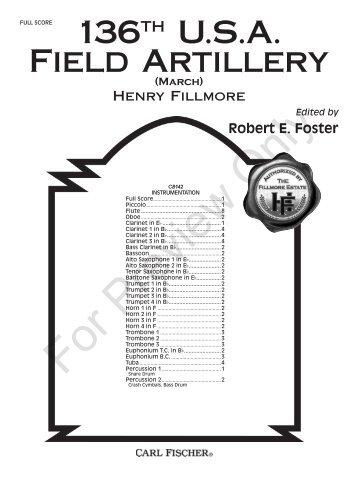 136th USA Field Artillery - JW Pepper