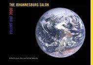 VOLUME ONE 2009 THE JOHANNESBURG SALON