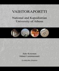VAIHTORAPORTTI - Jyväskylän yliopisto