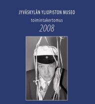 Toimintakertomus 2008 - Jyväskylän yliopisto