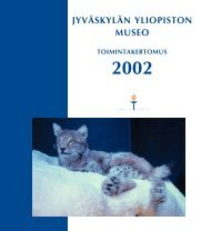 Toimintakertomus 2002 - Jyväskylän yliopisto