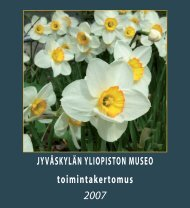 toimintakertomus 2007 - Jyväskylän yliopisto