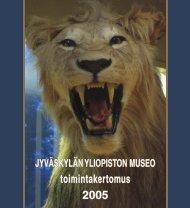 toimintakertomus 2005 - Jyväskylän yliopisto