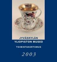 Toimintakertomus 2003 - Jyväskylän yliopisto