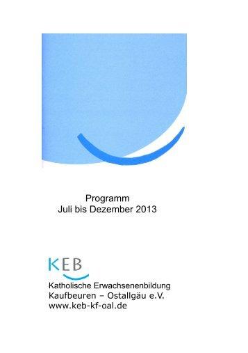 Programm 2/2013 - Katholische Erwachsenenbildung Kaufbeuren ...