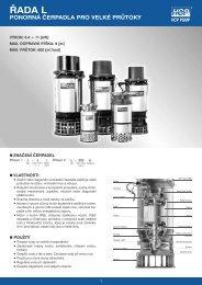 Katalog čerpadel HCP řada L - Čerpadla
