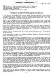 Ansprachen von Papst Benedikt XVI.