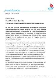 Investition in die Zukunft (PDF | 29 KB) - K+S Aktiengesellschaft