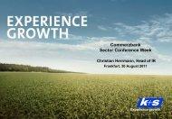 Fertilizers - K+S Aktiengesellschaft