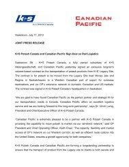 Press Release 11.07.2013 (PDF | 44 KB) - K+S Aktiengesellschaft