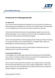 Vorlage Richtlinie - K+S Aktiengesellschaft