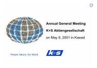 Presentation documents Dr. Ralf Bethke - K+S Aktiengesellschaft