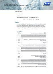 Konzernabschluss der K+S Gruppe - K+S Aktiengesellschaft