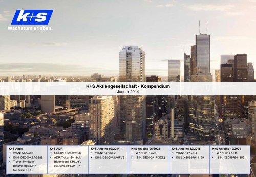 K+S Kompendium Januar 2014 - K+S Aktiengesellschaft
