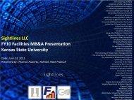 2011 Sightlines Presentation - Kansas State University