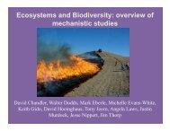 Ecosystems and Biodiversity - Kansas State University
