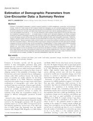 Estimation of Demographic Parameters from Live ... - BioOne