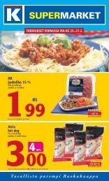 Hk jauheliha 15 % Atria hot dog - K-supermarket