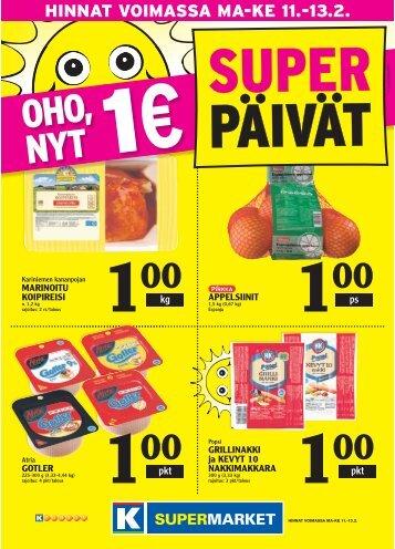 HINNAT VOIMASSA MA-KE 11.-13.2. - K-supermarket