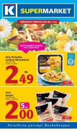 Atria Perhetilan broilerin leesuikaleet Atria burgeri - K-supermarket