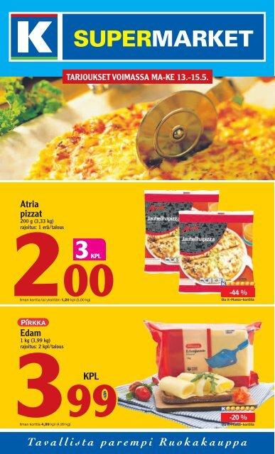 Atria pizzat Edam - K-supermarket