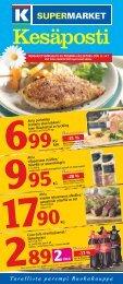 Se erbjudandebladet / Katso tarjouslehti - K-supermarket