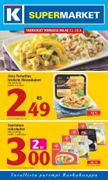 Atria Perhetilan broilerin fileesuikaleet saarioinen ... - K-supermarket