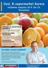 Uusi, K-supermarket Aurora