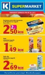 TArJOUKsET VOIMAssA MA-KE 20.-22.5. - K-supermarket