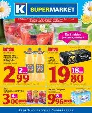 Kesä maistuu juhannusjuomissa - K-supermarket