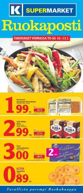 TARJOUKSET VOIMASSA TO-SU 10.-13.1. - K-supermarket
