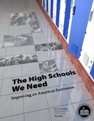 The High Schools We Need: Improving an American Institution.