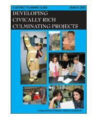 developing civically rich culminating projects - Office of ...