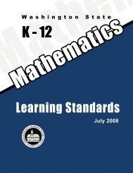 Washington State K-12 Math Standards - Office of Superintendent of ...