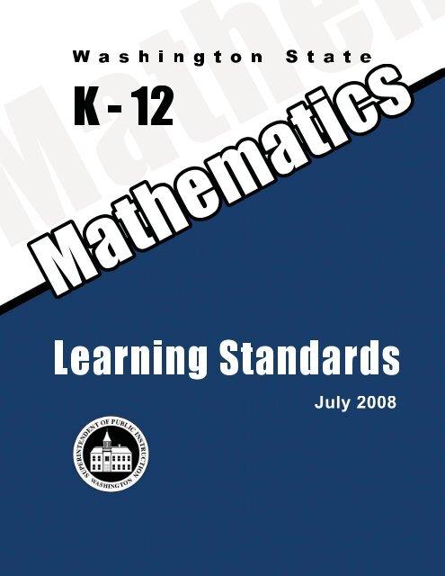 Washington State K 12 Math Standards Office Of