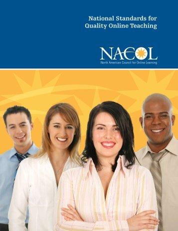 National Standards for Quality Online Teaching - K12HSN
