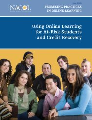 Using Online Learning for At-Risk Students and Credit ... - K12HSN