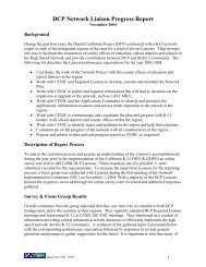 DCP Network Liaison Progress Report - California K-12 High Speed ...