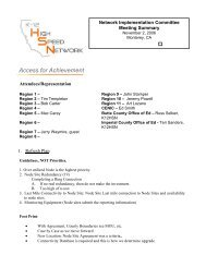 Access for Achievement - California K-12 High Speed Network