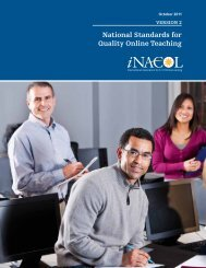 National Standards for Quality Online Teaching: Version 2 - iNACOL