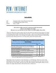 Cyberbullying [K19, PRIV5] - Pew Internet & American Life Project